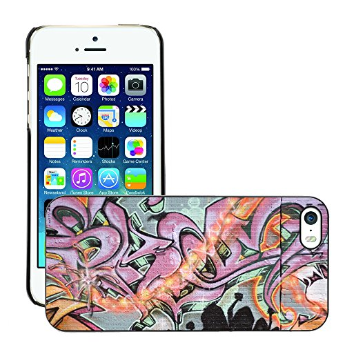 Premio Sottile Slim Cassa Custodia Case Cover Shell // V00002255 Graffiti spraypainted // Apple iPhone 5 5S 5G