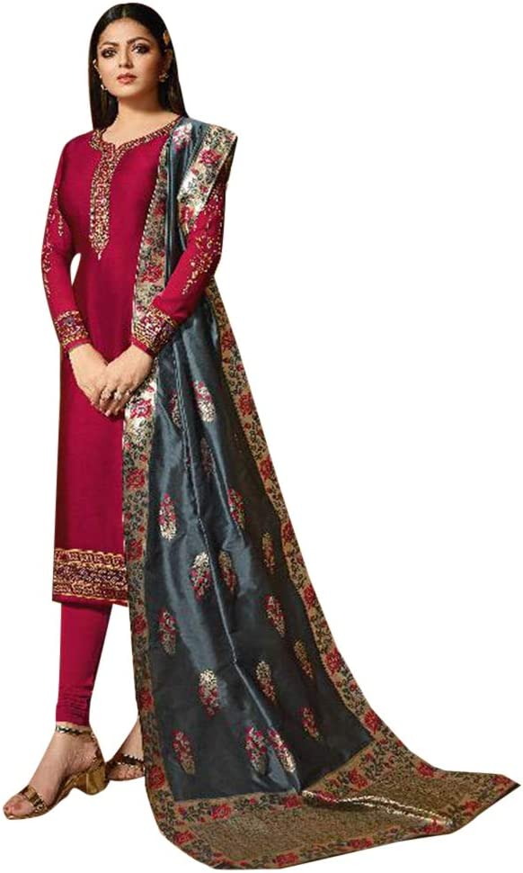 Amazon Com Indian Pakistani Straight Salwar Kameez Suit Banarasi Jaquard Contrast Dupatta Party Embroidery Women S Dress 7834 Home Improvement Classic beige stole for groom to create that perfect contrasting effect with your sherwani! indian pakistani straight salwar kameez