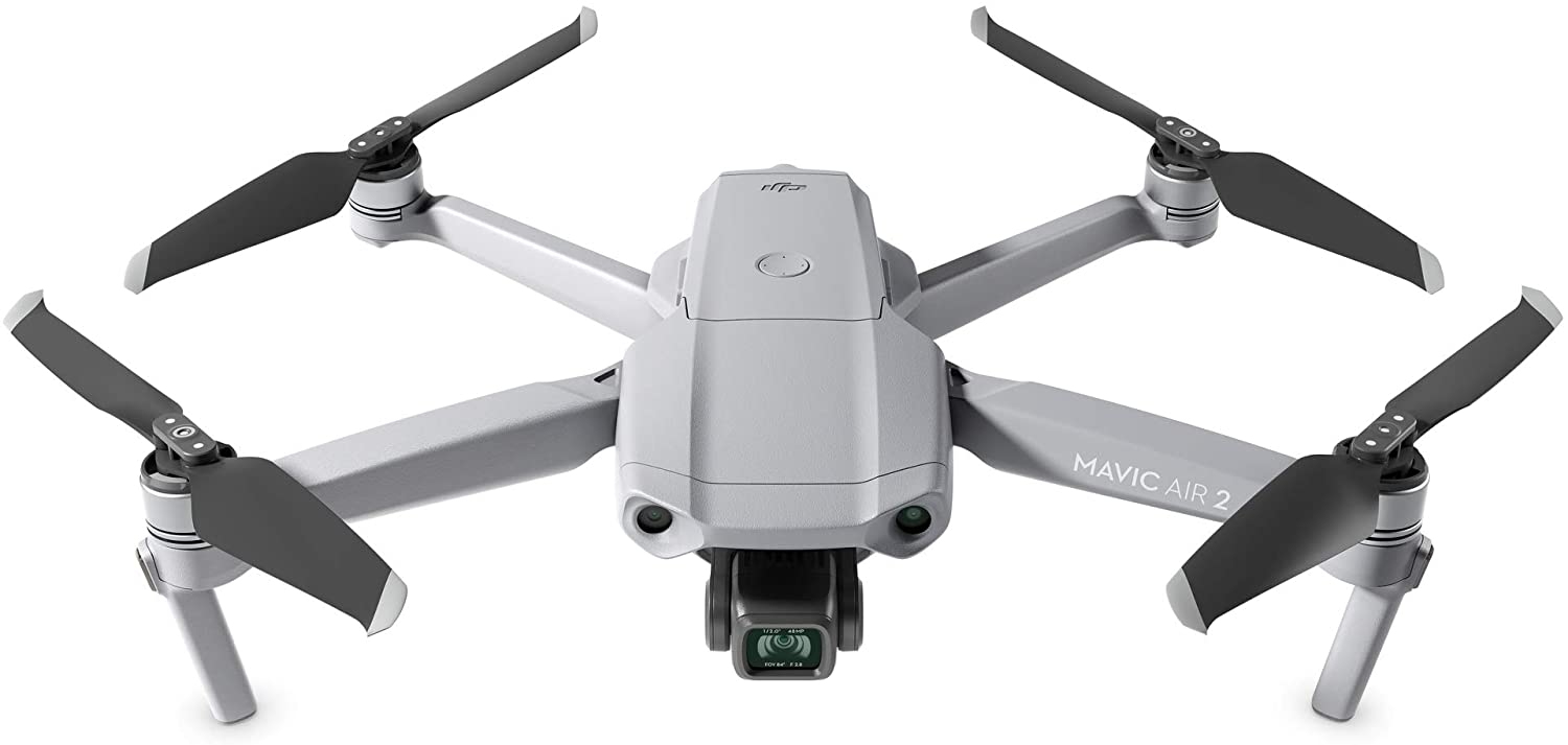 "Amazon.com: DJI Mavic Air 2 - Drone Quadcopter UAV with 48MP Camera 4K Video 8K Hyperlapse 1/2"" CMOS Sensor 3-Axis Gimbal 34min Flight Time ActiveTrack 3.0 Ocusync ..."