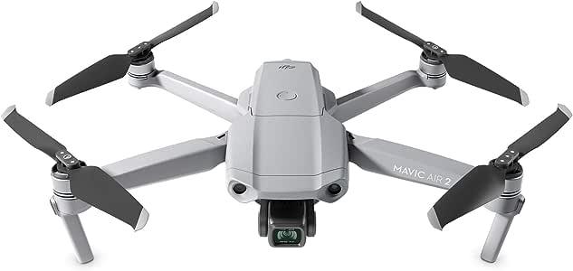 "DJI Mavic Air 2 - Drone Quadcopter UAV with 48MP Camera 4K Video 8K Hyperlapse 1/2"" CMOS Sensor 3-Axis Gimbal 34min Flight Time ActiveTrack 3.0 Ocusync 2.0, Gray"