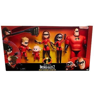 Jakks Pacific Disney Incredibles 2 Mighty Action Figure Set - 13 Pack 5: Jakks: Toys & Games