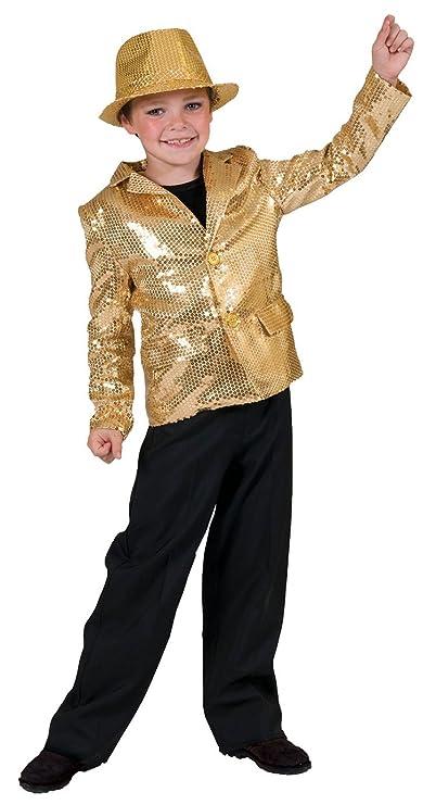 Vintage Style Children's Clothing: Girls, Boys, Baby, Toddler Kids Gold Disco Costume $42.54 AT vintagedancer.com