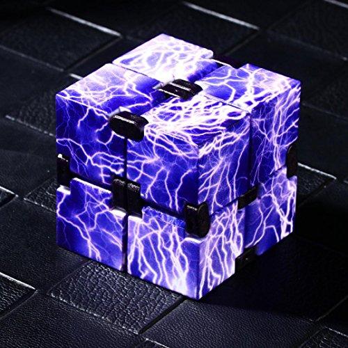 Dinglong Grosses Soldes Incroyable De Luxe EDC Infinity Cube Mini Pour Le Soulagement Du Stress Fidget Anti AnxiéTé Stress DrôLe Grand DéVeloppement ÉDucatif Jouets Cadeau CréAtif (G)
