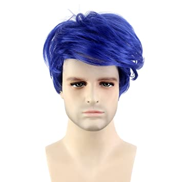 Stfantasy Mens Wigs Cosplay Costume Pixie Straight Synthetic Fluffy Peluca 12 Inch 95g w/ free