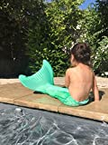 Mermaid Tail for Swimming with Monofin- Girls, Boys and Kids. Excelent Christmas Gift. Sizes 6 to 12 (Blue, 8)