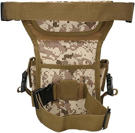 winomo multiusos Outdoor Senderismo Escalada Bumbag para pierna muslo cintura cinturón Pack Funda Bolsa Cartera Monedero Ejército para fans (Digital ...