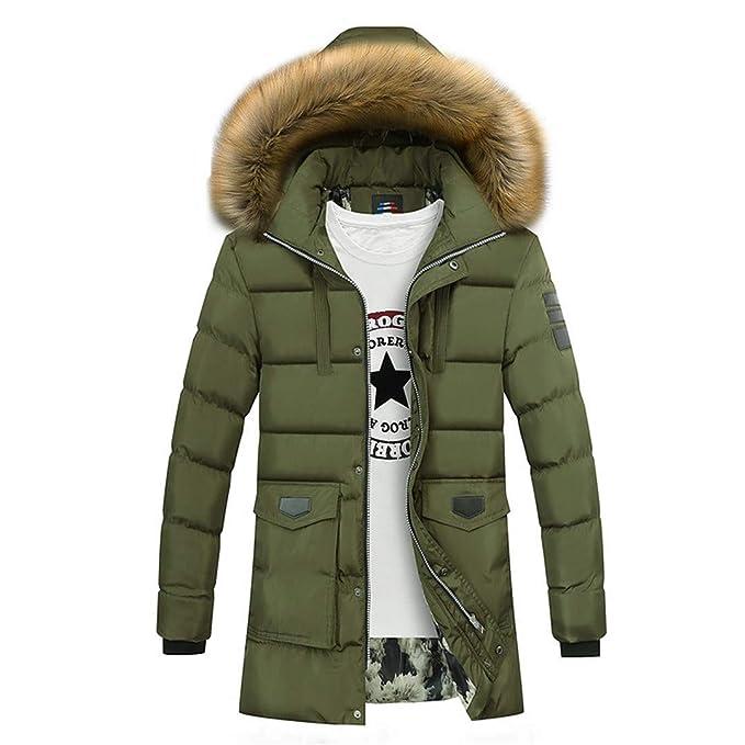 Doen&Kanst Hombres Parka Casual Cuello de Piel con Capucha Caliente Abrigos Abajo Abrigos de Invierno Chaquetas