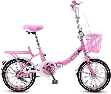 Bxiao Bicicleta Plegable para niños, 16 Pulgadas, Estudiante de ...