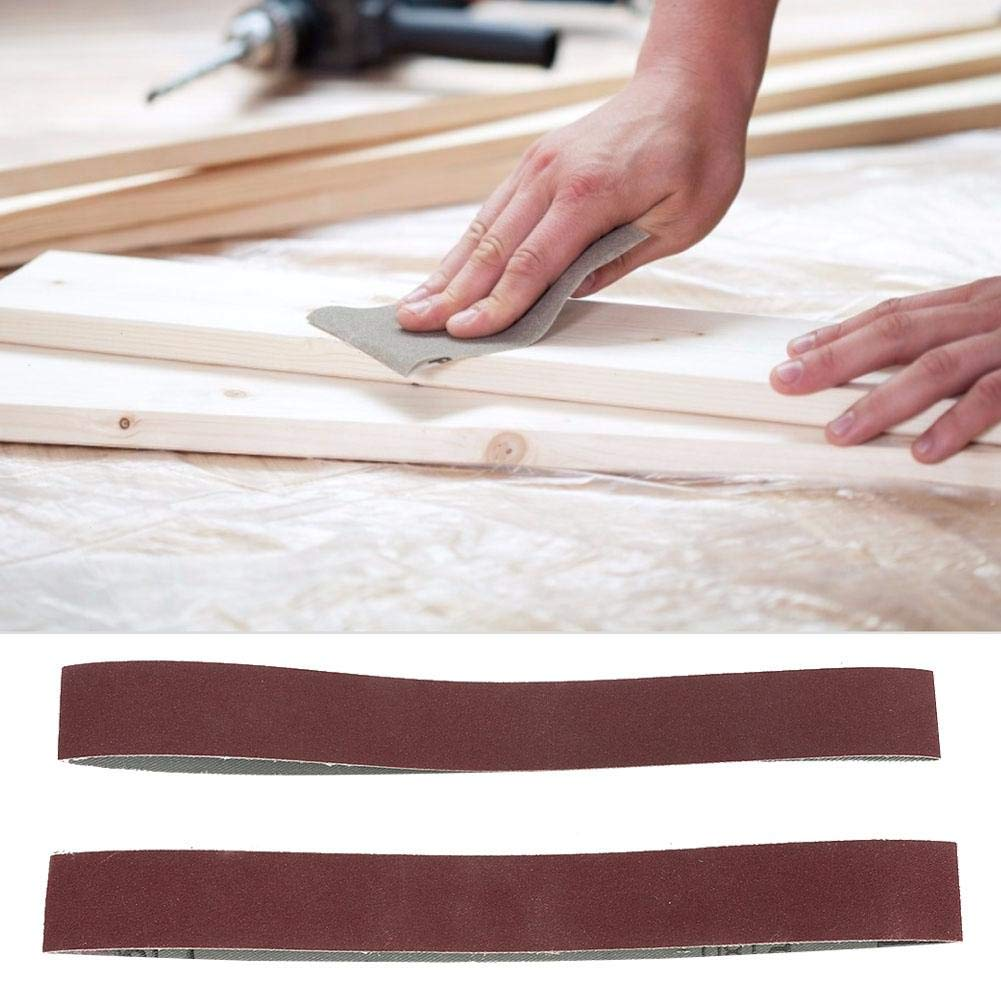 180 Grit 10pcs Alumina Sanding Belts Sanding Band Grinding Polishing Abrasive Sandpaper for Woodworking Metal Polishing