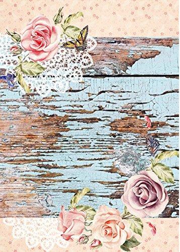 Cadence Papel de Arroz Tabl/ón y Rosas 30x41 cm Ref 519