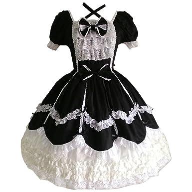 99f7a27ee273 Amazon.com: Partiss Women's Gothic Princess Cosplay Sweet Lolita ...
