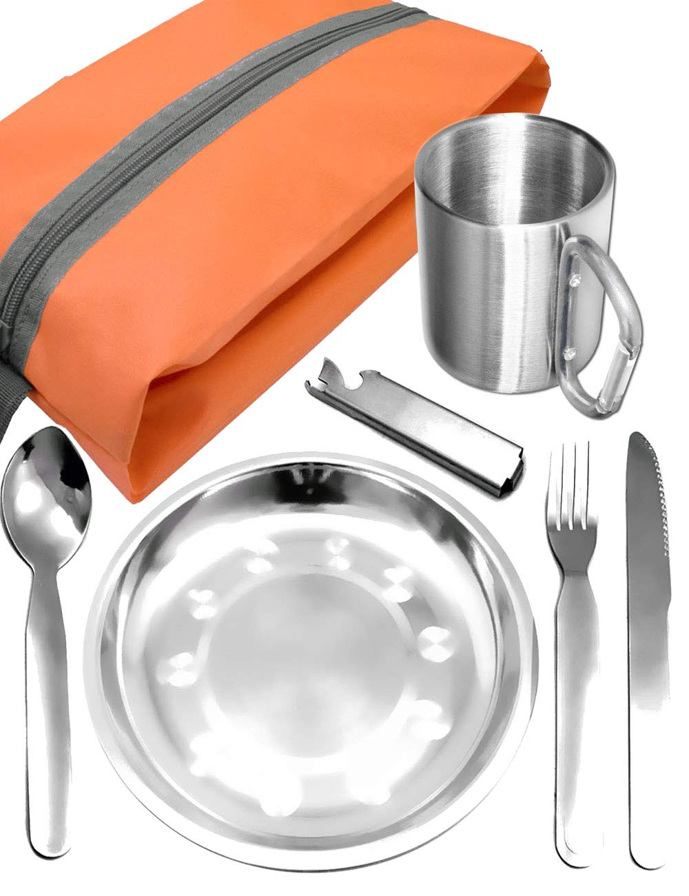 M/ás Largo titanio 9.65/inch//245/mm de largo cuchara de la cuchara de mango largo viene con funda resistente al agua con grande pulido cuenco cuchara de titanio