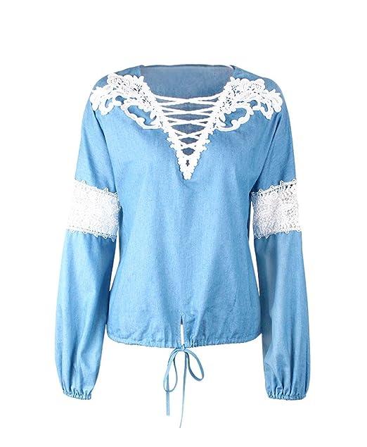 OUFour Frühling und Herbst Damen Jeans Oberteile mit