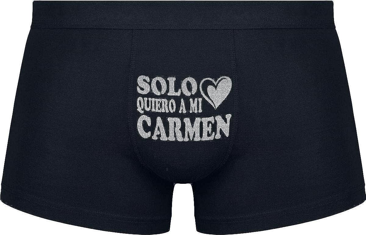Divertidos Regalos para las vacaciones inscripci/ón divertida Solo quero a mi Carmen