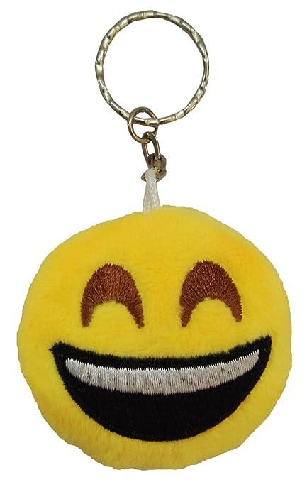 Smile YKK - Llavero de peluche con forma de emoticono ...
