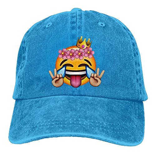 Hainingshihongyu Peace Emoji Baseball Caps Adult Sport Cowboy Trucker Hats Adjustable Royalblue - In Portland The Mall Stores