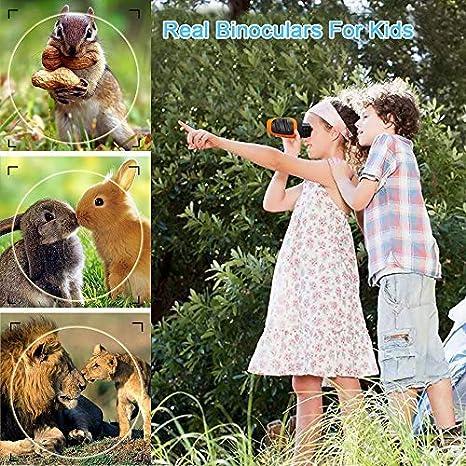 Ni/ñas Azules Binoculares para Ni/ñas Que Aprenden Juguetes Educativos para Ni/ños de 3 a 12 A/ños EUTOYZ Regalos de Cumplea/ños para Ni/ños de 5 a 9 A/ños