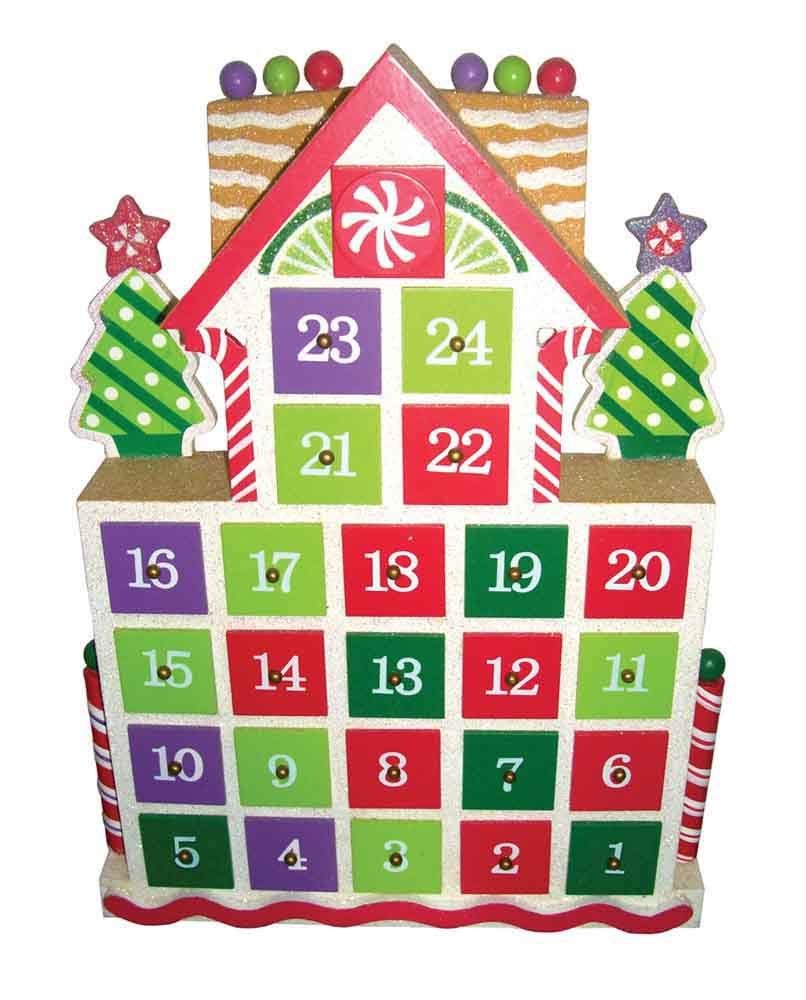 Santa's Workshop 70860 Gingerbread Advent Calendar, 15.5'',