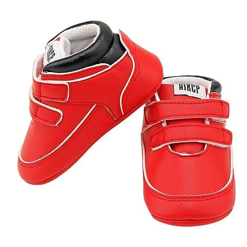 Logobeing Zapatos De Bebé Botines Zapatillas Deportivas para Bebés Recién Nacidos Primeros Pasos Zapato de Cuero Antideslizante Inferior Suave Infantil para ...