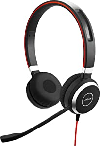 Jabra Evolve 40 MS Professional Wired Headset, Stereo – Telephone Headset for Greater Productivity, Superior Sound for Calls and Music, 3.5mm Jack/USB Connection, All-Day Comfort Design, MS Optimized