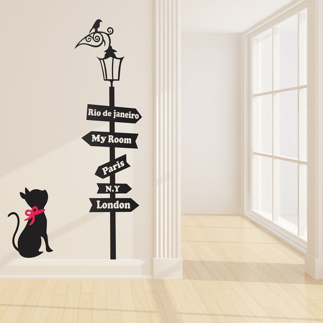 Luke and Lilly Cat and Quotes Design Vinyl Wall Sticker (60