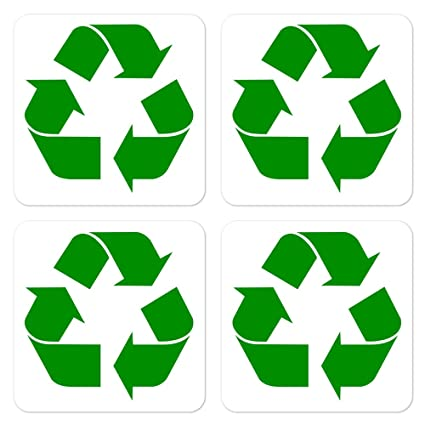 Amazon Dealzepic Recycle Symbol Sign Self Adhesive Peel