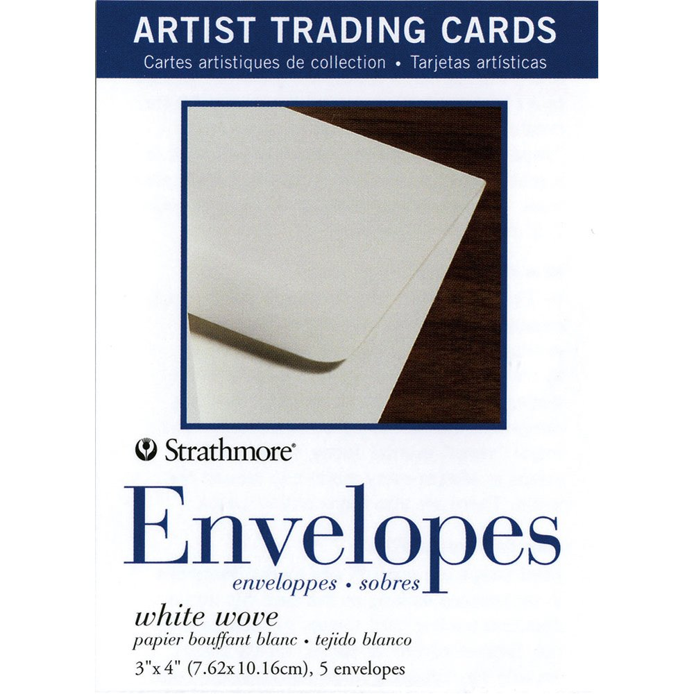 Strathmore (105-909 White Wove Envelopes for Artist Trading Cards Natural, 5