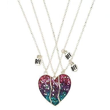nouvelles photos économiser nouveau design Claire's - Femmes Lot de 3 colliers best friends à pendentif ...