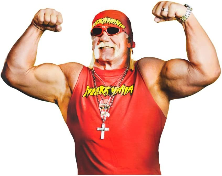 Hulk Hogan Wwe OriginalStickers0381 Set Of Two (2x) Stickers , Laptop , Ipad , Car , Truck , Size 4 inches on Longer Side