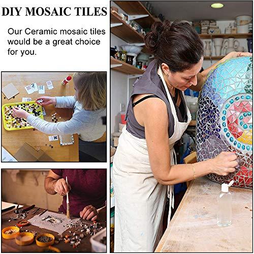 200g Blue Mosaic Tiles for DIY Crafts - Premium Quality Ceramic Mosaic Supplies Irregular Shape 0.6x1.2 inch - Perfect for Home Decoration Handmade DIY Crafts Arts Blue Mix