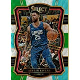Basketball NBA 2017-18 Select Tri-Color Prizms #141 Austin Rivers Premier Level Clippers