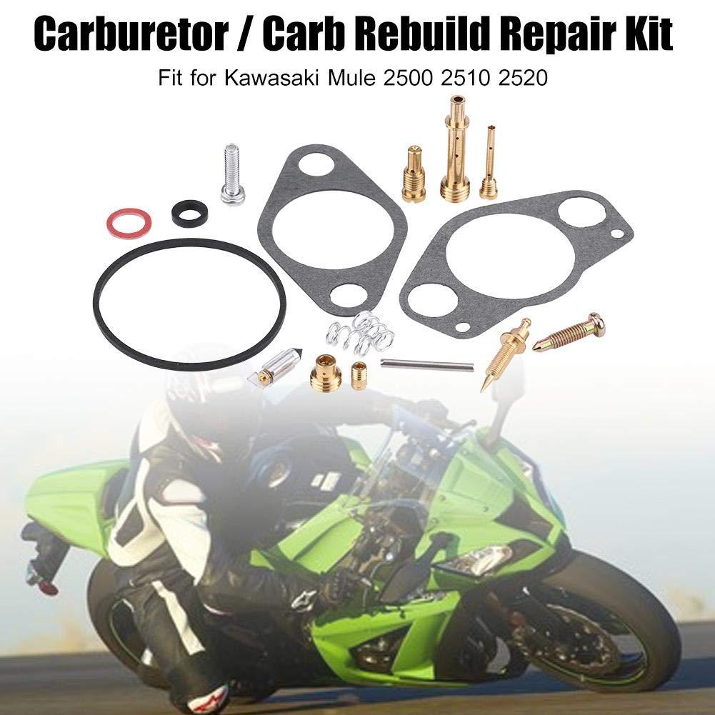 Carburetor Carb Rebuild Repair Kit for 15003-2509 Kawasaki Mule 2500 2510 2520
