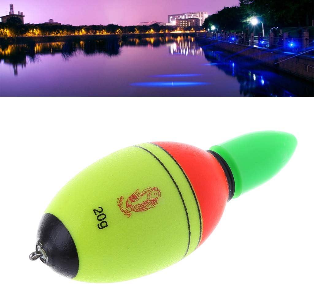 Tcn Flotteurs Peche Professional Fishing Floats De Nuit EVA Float De P/êche Peche Truite LED Accessoires pour P/êche