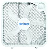 Hurricane Box Fan - 20 Inch | Classic Series | 3 Energy Efficient Speed Settings, Compact Design, Durable, Lightweight - ETL Listed, White