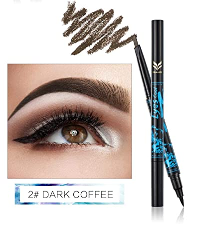 Double-End Waterproof Tattoo Eyebrow Pencils Cosmetics Black Coffee Brown Color Pigments Eye Brow Pen