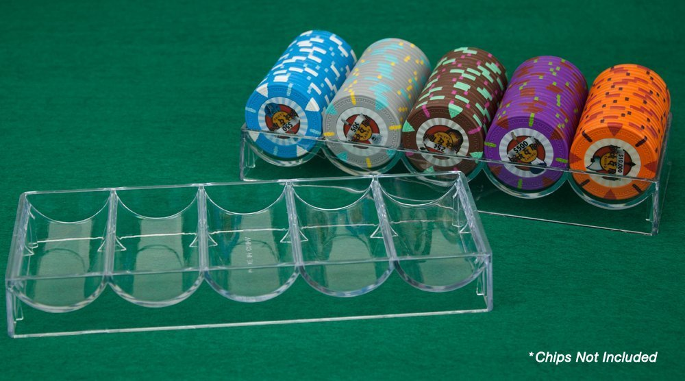 Lot of 10 Brybelly Clear Acrylic Poker Chip Trays with Lids