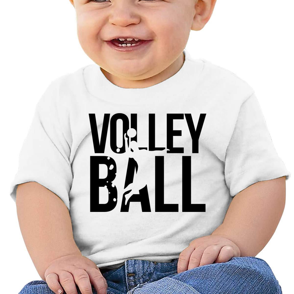 Qiop Nee Volleyball Short-Sleeves T Shirts Baby Girl