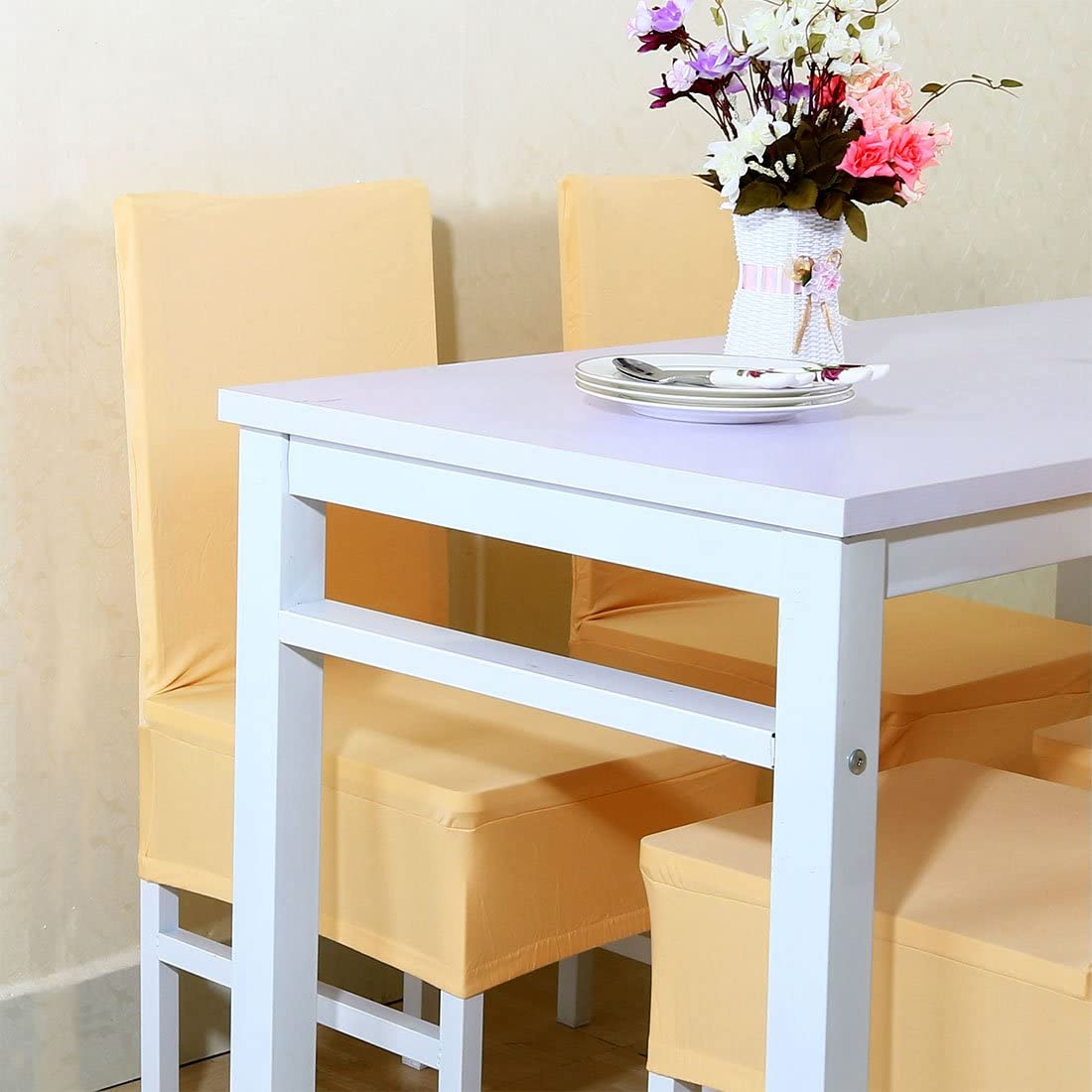 ristoranti feste e decorazioni; colori in tinta unita Brown in elastam; per hotel cucine Maikehome Rivestimento elastico per sedia da pranzo matrimoni