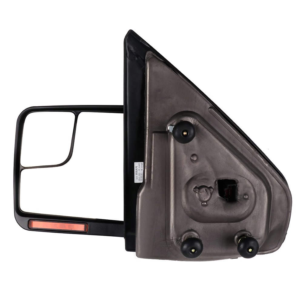 ECCPP Towing Mirrors Replacement fit for 2004-2014 Ford F150 Truck Rear View Mirrors with Manual Folding Turn Signal Lights Power Heated Back Reflector 116439-5211-1022107141