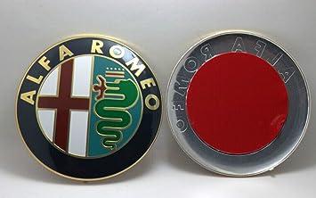 Emblema delantero o trasero para Mito, Giulietta, Brera, 147, 159 y GT: Amazon.es: Coche y moto