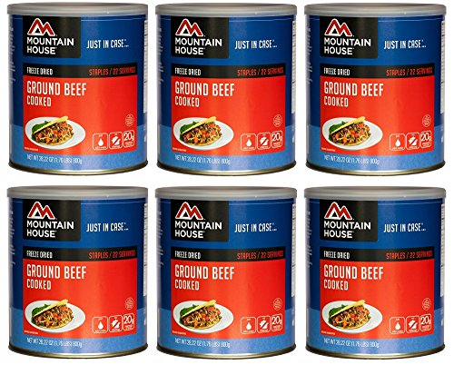 Mountain House Ground Beef #10 Can Freeze Dried Food - 6 ...