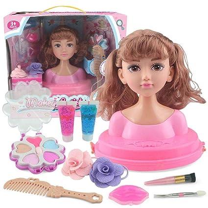 Testa E Trucco Da Parrucchiere, Charlene Super Model Con Accessori