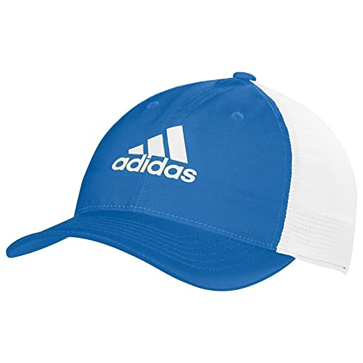 Amazon.com  adidas Climacool Lightweight Flexfit Cap Blue White ... 86b4b74fd74