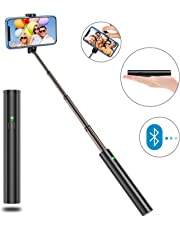 Bovon Bastone Selfie, Estensibile Selfie Stick Monopiede,Asta Selfie con Bluetooth Remote Shutter per iPhone XS/XS Max/XR/X/ 8/8 Plus/7 /6s/6, Galaxy S10 Plus/S10 /S9 /8 /Note,Huawei,Nubia,Altro