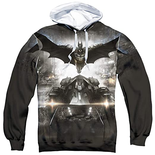 Trevco Batman Arkham Knight Poster Unisex Adult Sublimated Pull-Over Hoodie  for Men and Women cc962d679