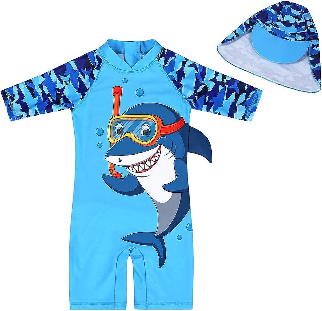 AmzBarley Protezione Solare UV Costume da Bagno per Bambini Ragazzo Bambine Ragazza Animale del Fumetto Costumi Estate Mare Spiaggia Vacanza Berretto