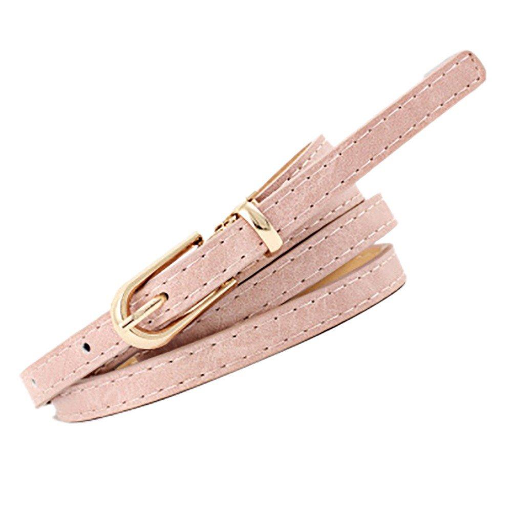 yoyorule Belts Fashion Women Vintage Accessorie Frosted Casual Buckle Thin Leisure Leather Belt