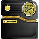 SUPERPOW 120PSI Compresseur d'Air Portable 12V DC Gonfleur Pneu Automatique pour Voiture, Camion, Bicyclette ou Camping-car, Basketball, Matelas à Air Comprimé et Objets Gonflables