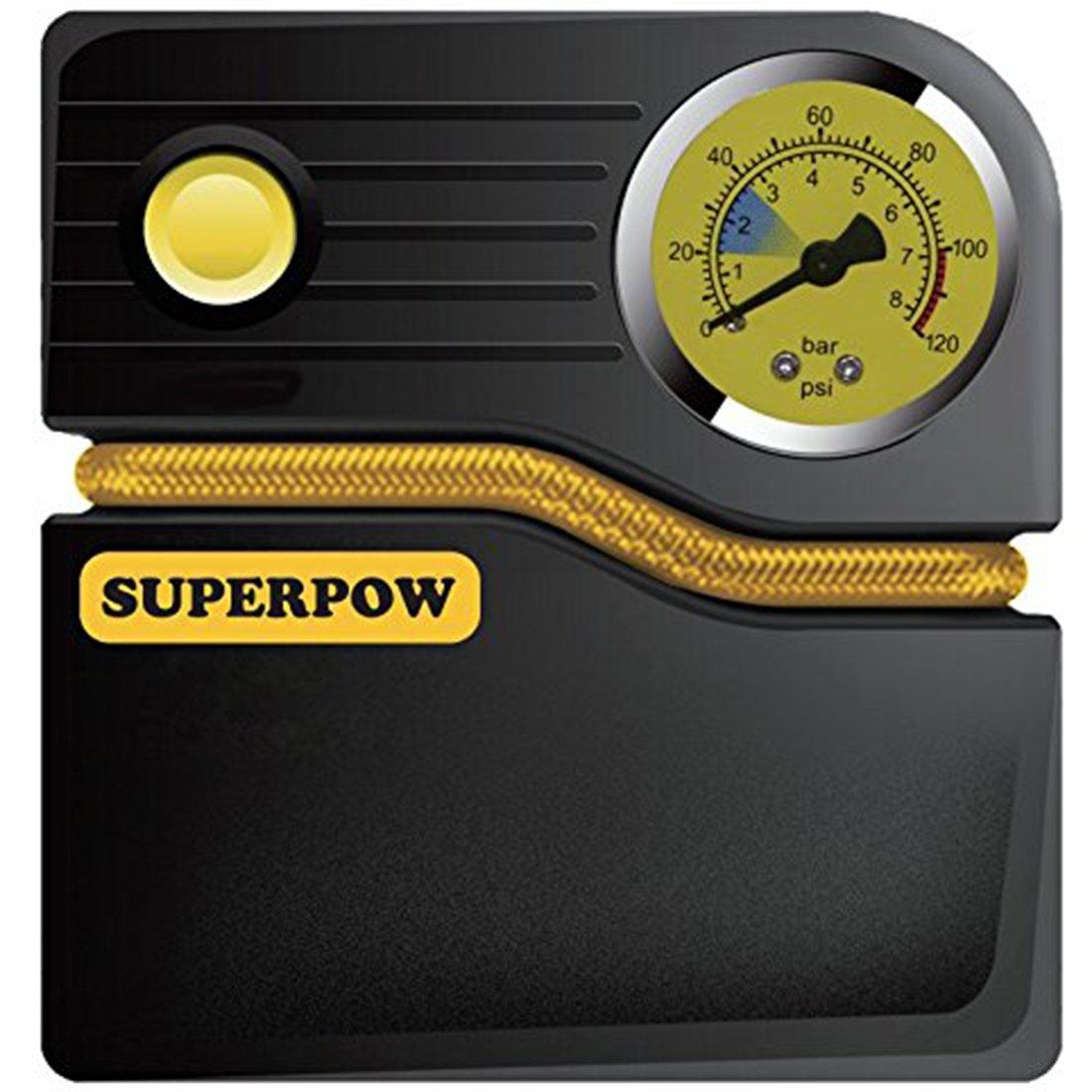 SUPERPOW Compresor de Aire Portátil Bomba Inflador de V PSI Metros Cable