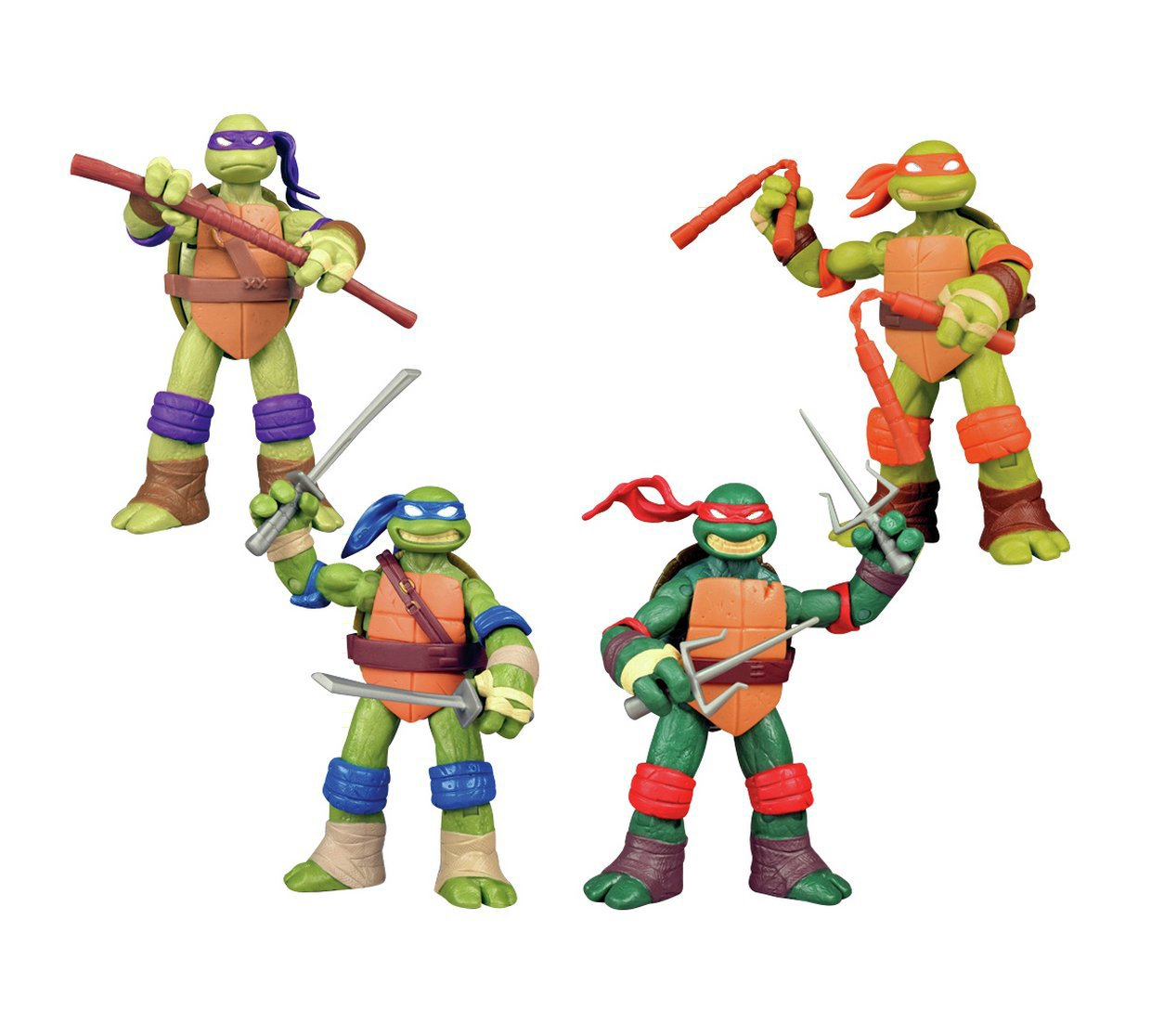 TMNT 4 Character Pack - Leonardo, Donatello, Michelangelo y Rafael Teenage Mutant Ninja Turtles